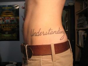 écriture tatouage